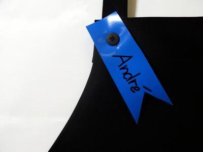 Namensschild für KIALOA Barista Schürze - Blau