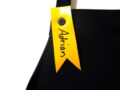 Namensschild für KIALOA Barista Schürze - Gelb