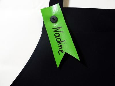 Namensschild für KIALOA Barista Schürze - Grün