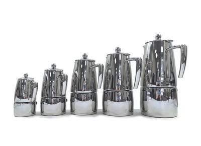 "ILSA Espressokocher ""Slancio"" aus Edelstahl 60cl / 10 Tassen"