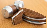 La Marzocco Holzapplikationen aus Nussbaum zu Linea Mini (Set)