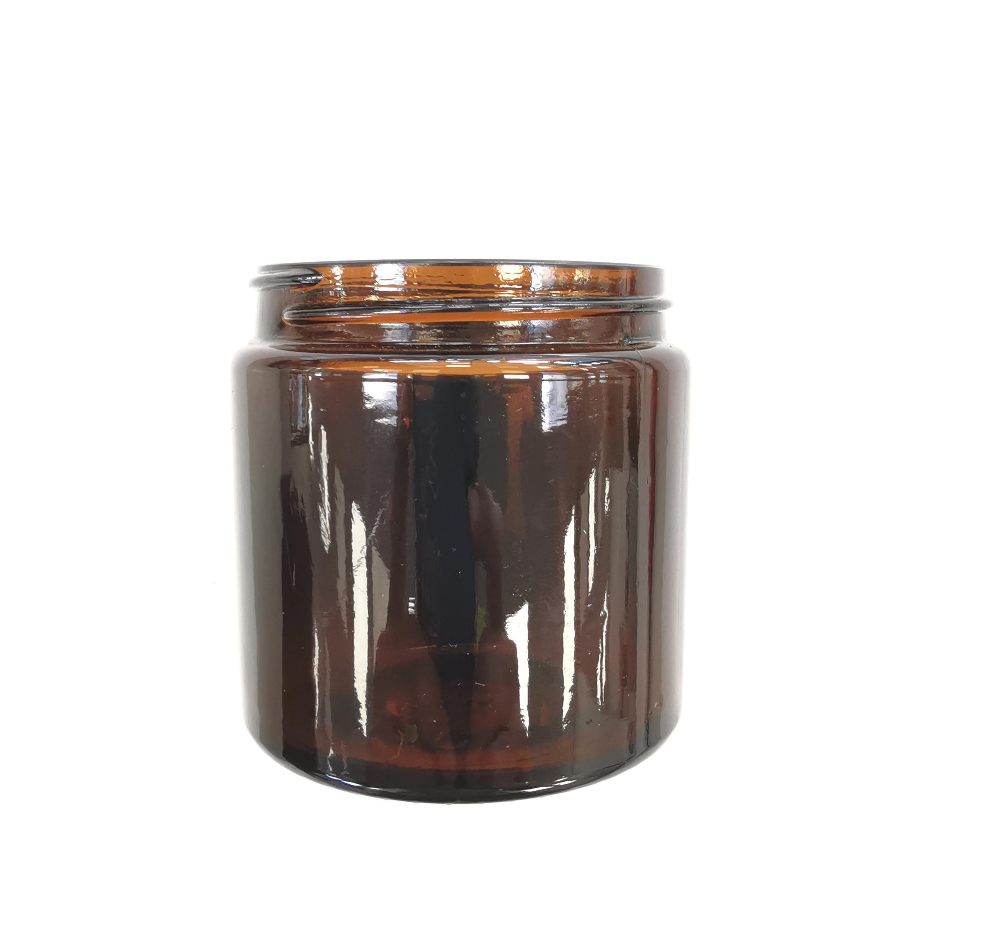 Glasbehälter mit Deckel zu Comandante C40 - braun