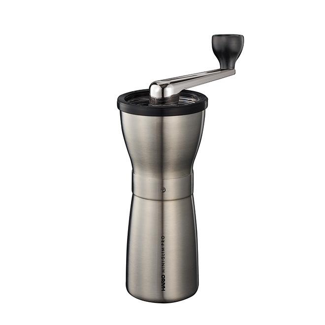 HARIO Ceramic Coffee Mill Mini-Slim PRO Stainless Steel