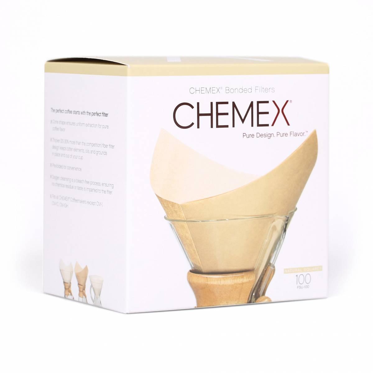 CHEMEX Filterpapier 6-10 Cup (quadratisch) natur