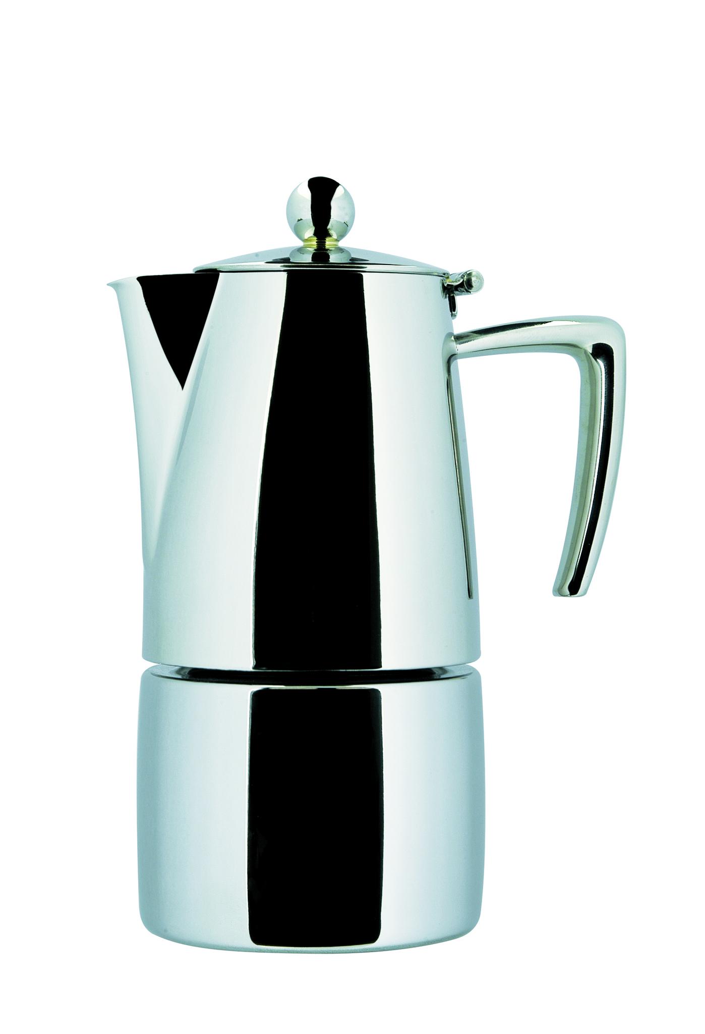 "ILSA Espressokocher ""Slancio"" aus Edelstahl 35cl / 6 Tassen"